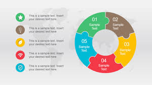 Free Animated Five Segments Puzzle Diagram Slidemodel Puzzle Powerpoint Template Free