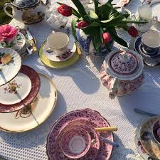 vintage china hire in somerset antique tea dinner sets