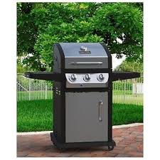 Backyard Grill 3 Burner Compact Gas Grill 3 Burner Patio Deck Backyard Cookout Barbecue