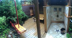 built from reclaimed and collected materials this diy sauna build
