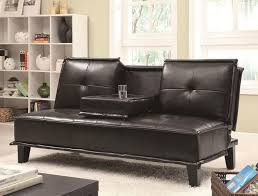 Convertible Leather Sofa by Best 25 Black Leather Sofa Bed Ideas On Pinterest Black Leather