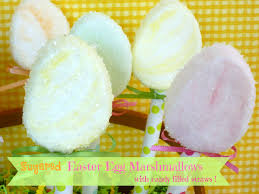 easter marshmallow candy sugared easter egg marshmallow pops sweet simple stuff