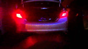 camry led brake light bulbs left side is led bulb right side is