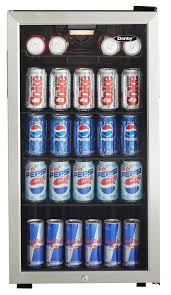 Mini Bar Fridge Glass Door by Danby Dbc120bls Beverage Center Stainless Steel Amazon Ca Home