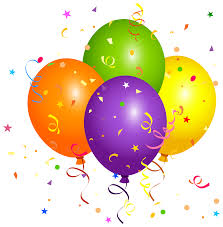 balloons with confetti clipart image clipartix