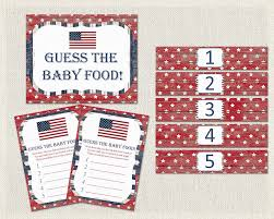 baby shower game guess the baby food red white blue patriot