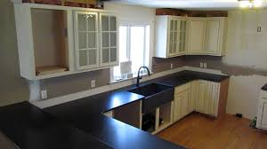 black countertop with black sink custom made absolute black granite counter top w leathered antiqued