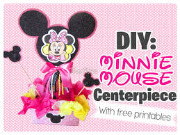 the290ss diy minnie mouse centerpiece with free printables