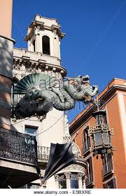 dragon lamp barcelona spain stock photos u0026 dragon lamp barcelona