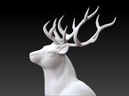 christmas deer christmas deer print ready 3d printable model cgtrader