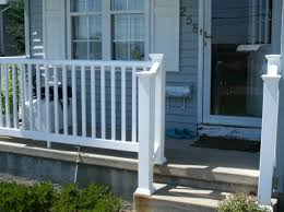 Wooden Front Stairs Design Ideas Front Porch Rail Severe Weather Railings Wood And Composite