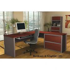 Bestar Desk Bestar Connexion L Shaped Desk Kit With Oversized Pedestal 93862 Grp