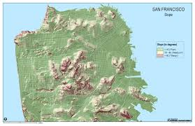 San Francisco Topographic Map by San Francisco Hills Map Michigan Map