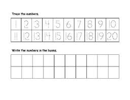 collection of solutions writing numbers 1 20 printable worksheets