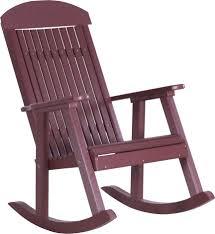 Luxcraft Fine Outdoor Furniture by Luxcraft Porch Rocker Amish Yard