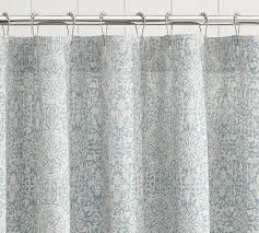 Coral And Grey Shower Curtain Blue And Coral Shower Curtain Intelligent Design Emmet Printed