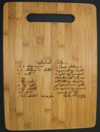 recipe engraved cutting board custom engraved cutting boards with a keepsake recipe custom