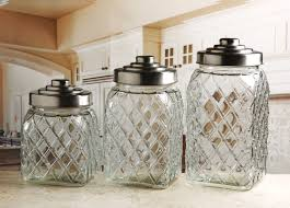 glass kitchen storage canisters circleware 3 pc embossed canister set