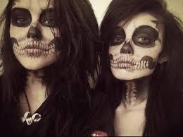 y skull makeup