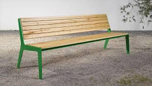Steel Outdoor Bench Garden Bench Traditional Wooden Steel On 08 Silvio Rohrmoser