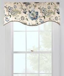 jacobean floral scalloped valance country curtains