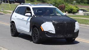 jeep truck 2018 spy photos 2018 jeep cherokee spied possibly with conventional headlights