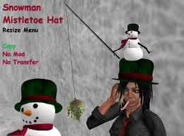 mistletoe hat second marketplace snowman mistletoe hat box of