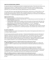 Resume Objective For It Job by Sample Resume Objective 9 Examples In Pdf