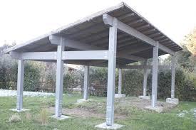 struttura in legno per tettoia tettoia in lamellare color grigio parco dei cimini vt