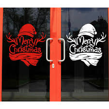 merry christmas window home decor vinyl stickers christmas tree