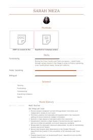 Examples Of Teachers Resumes by Math Teacher Resume Samples Visualcv Resume Samples Database