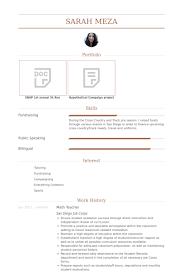 Educator Resume Sample by Math Teacher Resume Samples Visualcv Resume Samples Database