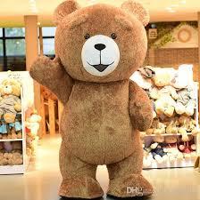 Brown Bear Halloween Costume Quality Big Fat Teddy Bear Cartoon Mascot Costume Toy Shop