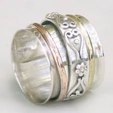 worry ring meditation rings crafted jewellery sterling silver semi