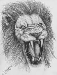 lion sketch by darkartistdomain on deviantart