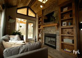 Tiny Houses For Sale In Colorado This Teeny Tiny House Is Huge On Style Stone Fireplaces Mantle