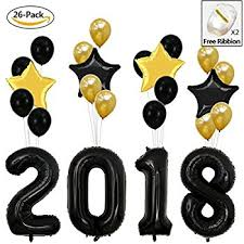new years supplies 2018 balloons new year graduation gold 2018 new