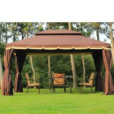 Gazebo On Patio by Outsunny 3 X 4 M Aluminium Metal Gazebo Marquee Canopy Pavilion