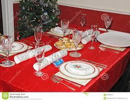 christmas dinner table setting stock photo image 68896357