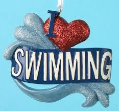 i swimming ornament
