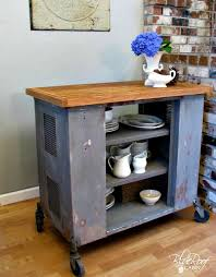 blue roof cabin diy industrial kitchen island or cart or whatever