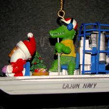 cajun navy airboat gator ornament louisiana gifts gallery inc