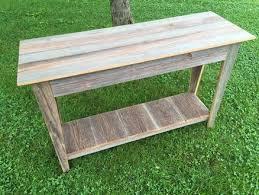 reclaimed wood entry table reclaimed barn wood entry table by michaelray lumberjocks com