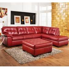 Comfortable Black Leather Sectional Sofa The Versatility And - Red leather living room set