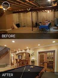 warm basement before and after old homes and basements ideas