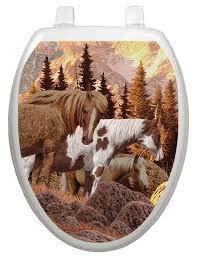 toilet tattoos themes wild horses toilet seat decal u0026 reviews