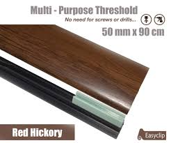 Laminate Flooring Threshold Trim Red Hickory Laminated Transition Threshold Strip 50mm X 90cm Multi
