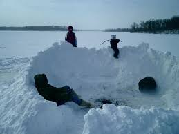 How To Build An Igloo In Your Backyard - quinzee building 8 steps
