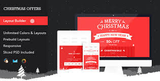 christmas offers responsive email template by mail1395 themeforest