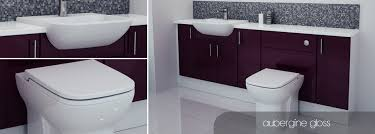 Bathroom Fitted Furniture Bathcabz Bathroom Fitted Furniture Aubergine Gloss Furniture